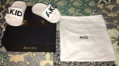 Brand New AKID Aston Slip On Sandals- White