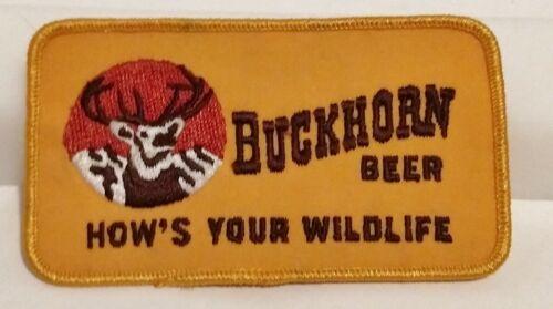 """VINTAGE! Sweet! Buckhorn Beer Patch 4.75"""" x 2.75"""" Hows Your Wildlife"""