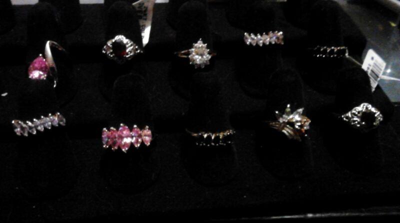 ~*Sterling Silver Vermeil 925 Rings lot of 10!*~
