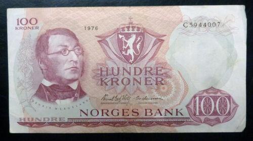{BJSTAMPS} 1976 Norway 100 Kroner