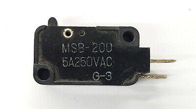 Mulon Msb-200 Spst- Off-on Micro Switch 5a 250 V Ac