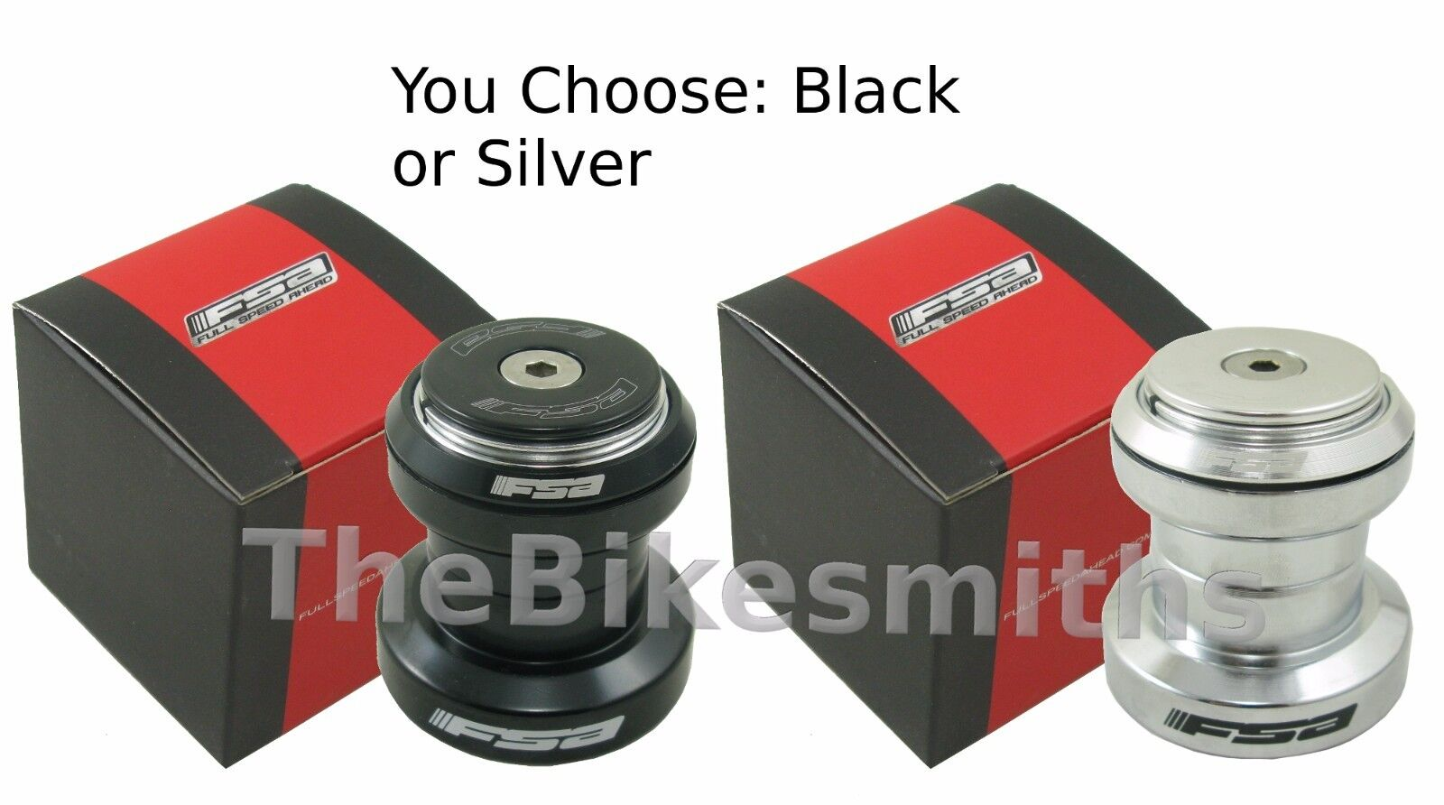 "FSA The Pig Threadless 1-1/8"" Aheadset Headset Black or Silv"