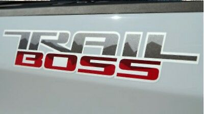 2019 Silverado Trail Boss Decal Kit ( Set of 2 ) OEM GM Red & Gray 84141147 New