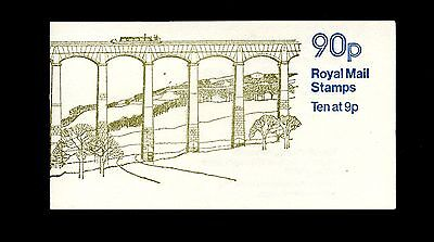 UK LLANGOLLEN 90p Stamp Booklet Unexploded MNH 1978 RIGHT SELVEDGE SG FG3