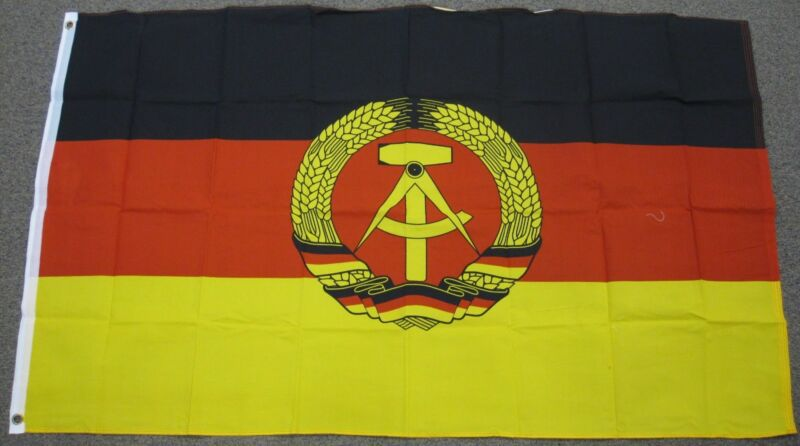 3X5 EAST GERMANY FLAG GERMAN DEMOCRATIC DDR NEW F122