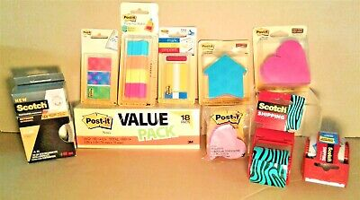 3m Scotch Post-it Note Pads Tape Labels Fasteners Tabs Stickers U Pick-nip