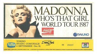 MADONNA WHO'S THAT GIRL WORLD TOUR 1987 BIGLIETTO CONCERTO TORINO 4 SETTEMBRE