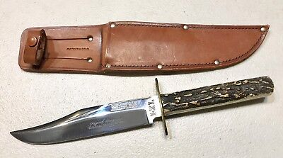 Vintage IXL.Wostenholm Washington Works Sheffield Bowie Dagger Knife AntlerStag