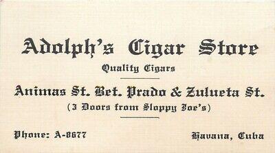 Adolph's Cigar Store, Calle Animas, Havana, (Animas Store)