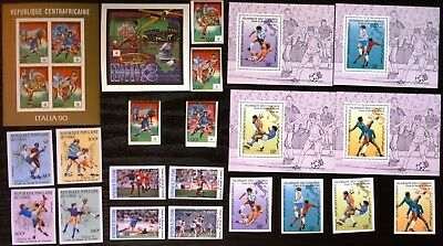 1990 Soccer, Football World Cup, all Imperf, collection, MNH (249)