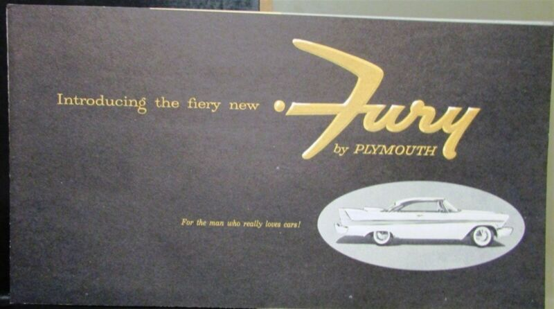 1957 Plymouth Fury Sales Brochure V-800 2 X 4 Carbs Perf Luxury Original