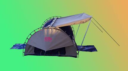 Premium-DOUBLE-Dome-Canvas-Swag,210x150x95(cm)+FREE AWNING POLES