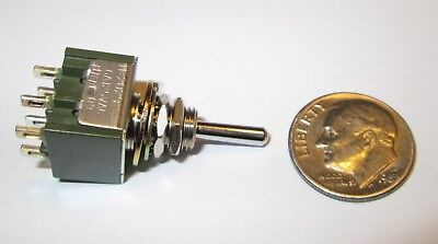 Nkk Switch Miniature Toggle Switch Dpdt C-off On-off-on Momentary  Nos