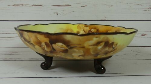 Hand Painted  Porcelain Bowl Artist Signed  Antique Limoges?