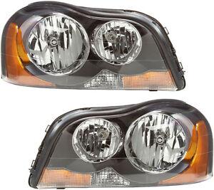NEW Headlights Headlight Assembly w/Bulb Pair Set for 2003-2014 Volvo XC90