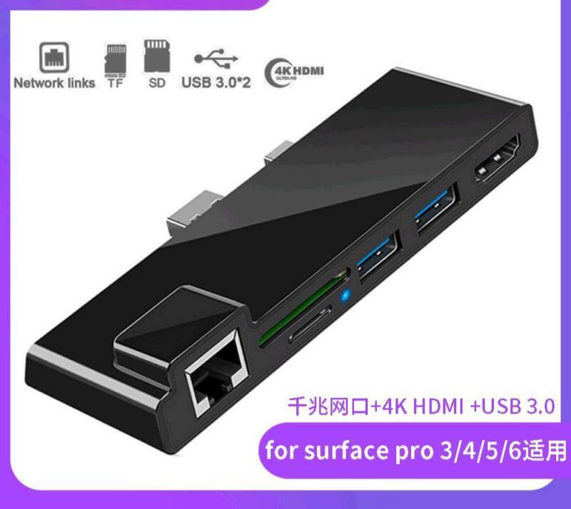 For Surface Pro Dock USB Hub Hub USB Splitter 3.0 Expansion Dock