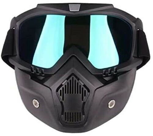 Airsoft Tactical Paintball Protective Combat Helmet Face Mask Black