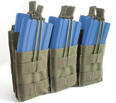 Condor Tactical 5.56 MOLLE PALS Triple Stacker Magazine Pouch OD MA44-001