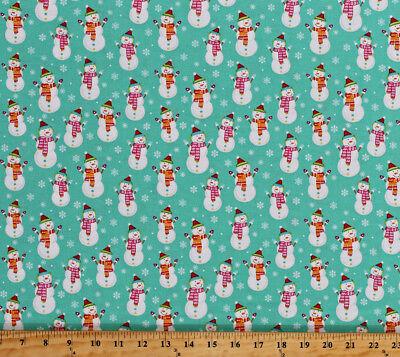Cute Snowmen Snowflakes Christmas Holiday Kids Cotton Fabric Print BTY D508.45](Cute Snowflakes)