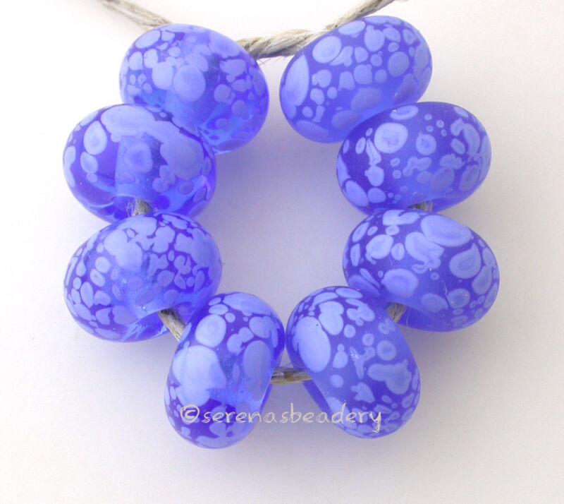 BLUE PERIWINKLE Frit Set * handmade lampwork glass beads - glossy matte - sra