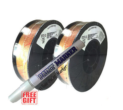 2 X 10lb .035 E71t-11 Flux Cored Gasless Weld Wire - Usa Made