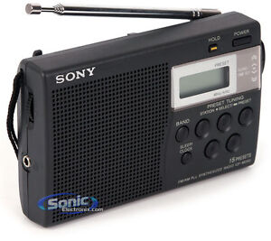 Sony-ICF-M260-New-Transistor-Original-Black-Radio-AM-FM-Portable-Digital-Orig