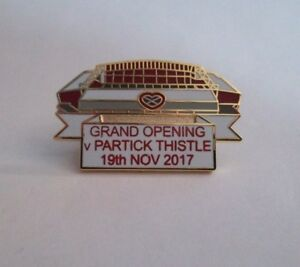 HEART OF MIDLOTHAIN FC BADGE STAND GRAND OPENING VS PARTICK THISTLE