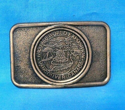 Vintage 1986 World Exposition Belt Buckle - Vancouver Canada - Century    MMR068