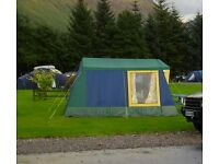 Frame tent, canvas 6 berth