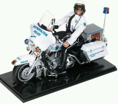 "GI Joe 12"" METRO POLICE OFFICER w/ HARLEY DAVIDSON ELECTRA GLIDE Motorcycle #3"