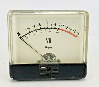 Vintage Bogen Vu Meter Level Indicator Panel Mount Ampex Rca 3-12 By 3