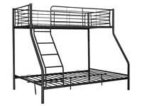 Black metal triple bunk bed *ONLY*