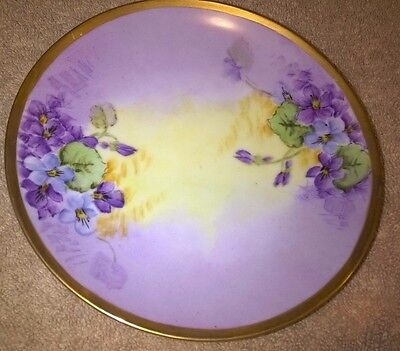 "Antique LIMOGES Hand Painted Floral 6 1/2"" -inch Plate"