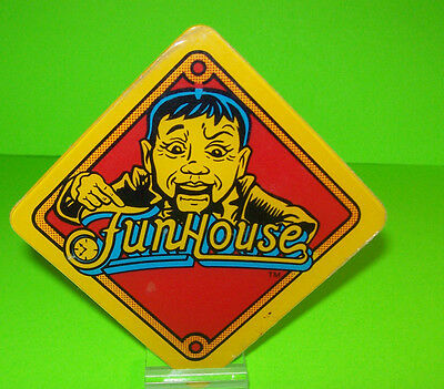 Williams FUNHOUSE Original 1990 Pinball Machine Plastic Promo Rudy Fun House