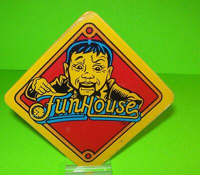 Williams FUNHOUSE Original 1990 Pinball Machine Plastic Promo Rudy Fun House