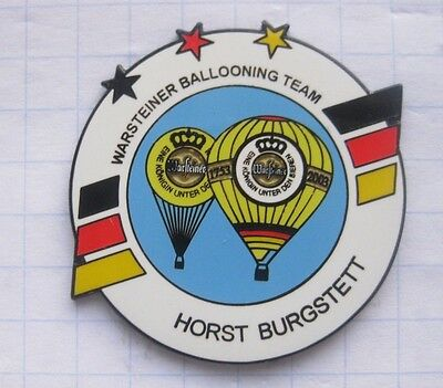 HORST BURGSTETT  / WARSTEINER BALLOONING TEAM  ... Bier-Ballon-Pin (125d)