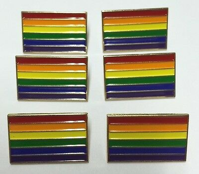 Lot Of 6 New Gay Pride Rainbow Flag 1  Lapel Pins Badge Lgbt Lbgtq Gilbert Baker