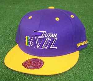 Retro Mitchell and Ness Utah Jazz Fitted Basketball Hat 7 5/8''