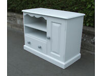 Solid Pine - Vintage - Painted Cabinet With Drawer - Shelves - Cupboard - Horfield