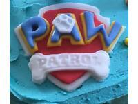 Paw Patrol logo cookie / icing cutter set