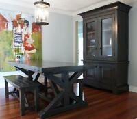 Pewter Grey Dining Table $1995 & more by LIKEN woodworks!