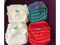 15 Brand New Totsbots Bamboozle Stretchies nappies from newborn 5-18lbs reusable cloth nappy