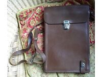 OLD RUSSIAN MILITARY COMMANDER'S LEATHER MAP CASE. WORKS GREAT AS AN IPAD, TABLET CARRY CASE.