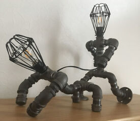 bulldog walker pipe lamp, (Steampunk/pipepunk)