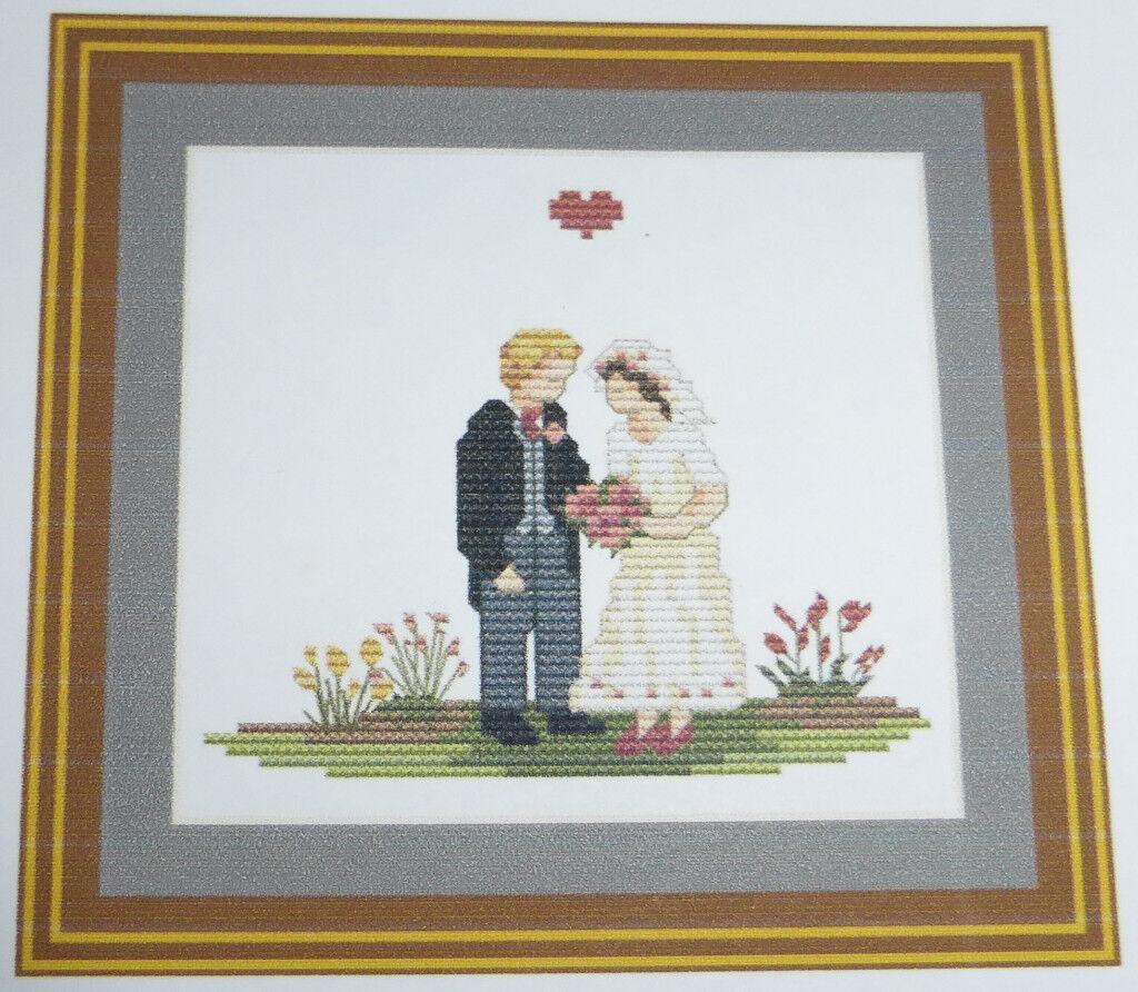 Cottage Needlecrafts Wedding Ring Cushion/Wedding Sampler Cross Stitch Kit
