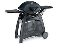 Weber Q3200 Gas Barbecue & Permanent Cart with Free Rotisserie
