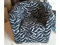 Tub Chair with Zebra stripes