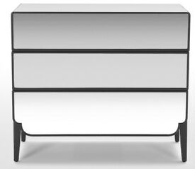 Made Belle 3-drawer mirrored chest of drawers