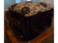 Neat Foot-Stool with 2 drawers & a letter rack