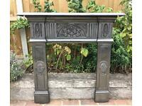 Antique Edwardian Fire Surround C1905 (Cast Iron)